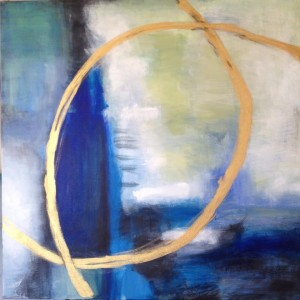 abstract_blue_gold leah prusiner art