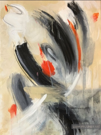 abstract painting by leah prusiner