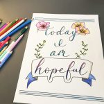 leah prusiner art today I am hopeful coloring page