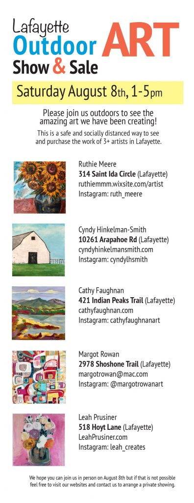 lafayette co art show aug 8